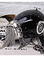 preiswerte -Damen Taschen Acryl Umhängetasche Reißverschluss Weiß / Schwarz / Fuchsia