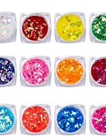 cheap -12 pcs Nail Jewelry Sparkle / Sequins Nail Art Forms Adorable / Colorful Casual / Daily