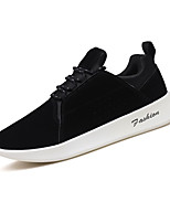 cheap -Men's Light Soles Suede / PU(Polyurethane) Spring / Summer Sneakers Black / Khaki