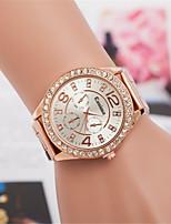 abordables -L.WEST Mujer Reloj de Pulsera Chino Reloj Casual / La imitación de diamante Aleación Banda Casual / Moda Plata / Dorado / Oro Rosa