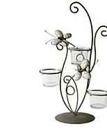 cheap -European Style Iron Candle Holders Candlestick 1pc, Candle / Candle Holder