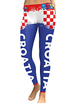 cheap -Women's Going out / Birthday Sporty / Basic Legging - Geometric Mid Waist