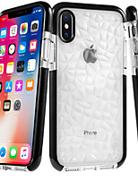 baratos -Capinha Para Apple iPhone 8 / iPhone 8 Plus Ultra-Fina / Transparente Capa traseira Azulejo / Estampa Geométrica Macia TPU para iPhone X / iPhone 8 Plus / iPhone 8