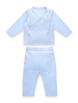 cheap -Baby Girls' Casual Solid Colored Long Sleeve Cotton Clothing Set / Toddler
