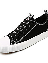cheap -Men's Canvas Fall Comfort Sneakers Color Block White / Black / White / Black / Red