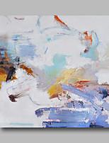 abordables -Peinture à l'huile Hang-peint Peint à la main - Abstrait Contemporain / Moderne Toile