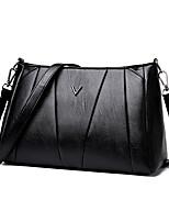 cheap -Women's Bags PU(Polyurethane) Shoulder Bag Zipper Black