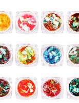 cheap -12 pcs Nail Jewelry Glitters / Sequins Nail Art Forms Fashionable Design / Adorable Daily / Casual