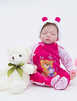 cheap -FeelWind Reborn Doll Baby Girl 22 inch Full Body Silicone / Vinyl - lifelike Kid's Girls' Gift