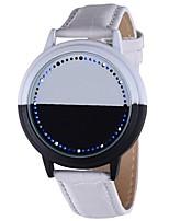 Недорогие -Для пары Наручные часы Цифровой Секундомер Светящийся Кожа Группа Цифровой Творчество Cool Черный / Белый - Белый Черный Один год Срок службы батареи / SSUO LR626