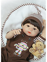 cheap -NPKCOLLECTION Reborn Doll Baby Boy 24 inch Full Body Silicone / Silicone / Vinyl - Artificial Implantation Brown Eyes Kid's Girls' Gift