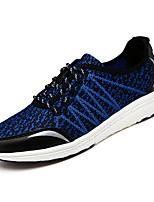 cheap -Men's Light Soles Lace / Mesh Fall Sneakers Black / Blue