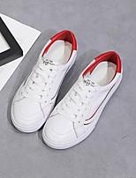 economico -Per donna Scarpe Nappa Primavera Comoda Sneakers Piatto Bianco / Rosso / Verde