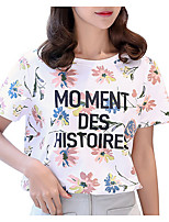 cheap -Women's T-shirt - Letter Print