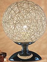 abordables -Artistique / Moderne / Contemporain Créatif / Lampes ambiantes Lampe de Table Pour Salle de séjour / Chambre à coucher corde de chanvre