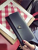 cheap -Women's Bags PU(Polyurethane) Wallet Zipper Champagne / Green / Black