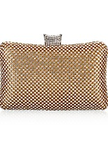 cheap -Women's Bags Polyester Evening Bag Beading / Crystals Gold / Black / Silver