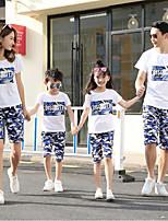 cheap -Family Look Geometric Short Sleeve Tee