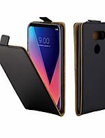 abordables -Coque Pour LG LG V30 / LG Q7 / LG Q6 Porte Carte / Antichoc Coque Intégrale Couleur Pleine TPU