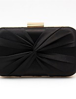cheap -Women's Bags Satin Evening Bag Bow(s) Black / Blushing Pink / Silver