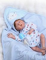 Недорогие -NPKCOLLECTION Куклы реборн Мальчики 22 дюймовый Полный силикон для тела / Винил Детские Мальчики Подарок