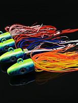 economico -4 pcs pc Esca Esche rigide Metallico Pesca di mare / Pesca a mosca / Pesca a mulinello