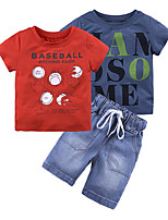 cheap -Toddler Boys' Print Short Sleeve Clothing Set