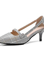 cheap -Women's Shoes PU(Polyurethane) Spring & Summer Basic Pump Heels Stiletto Heel Pointed Toe Gray / Almond