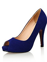 cheap -Women's Shoes Suede Spring & Summer Basic Pump Heels Stiletto Heel Peep Toe Black / Blue / Wedding / Party & Evening