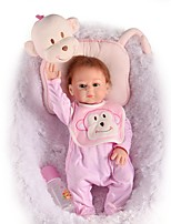 cheap -FeelWind Reborn Doll Baby Girl 20 inch Full Body Silicone - lifelike, Artificial Implantation Blue Eyes Kid's Girls' Gift