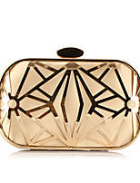 cheap -Women's Bags Polyester Evening Bag Crystals / Hollow-out Gold / Black