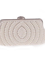 cheap -Women's Bags Polyester Evening Bag Crystals / Pearls White / Almond