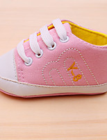 cheap -Girls' Shoes Canvas Spring / Fall First Walkers Sneakers Magic Tape for Baby Red / Blue / Pink