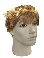 cheap -Synthetic Wig Straight Pixie Cut / Layered Haircut / Short Bob Synthetic Hair Anime / Party / Synthetic Blonde Wig Men's Short Capless / Natural Hairline