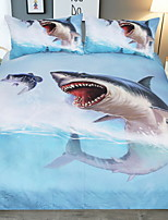 cheap -Duvet Cover Sets 3D Polyster Reactive Print 3 Piece