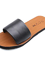 cheap -Women's Shoes PU(Polyurethane) Summer Comfort Slippers & Flip-Flops Flat Heel Round Toe White / Black / Champagne