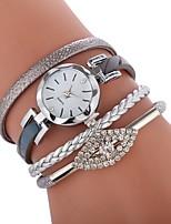 abordables -Mujer Reloj Pulsera Chino Reloj Casual / Encantador / La imitación de diamante PU Banda Bohemio / Moda Negro / Blanco / Gris