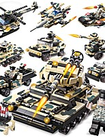 cheap -Building Blocks 834 pcs Military / Tank Creative All Gift