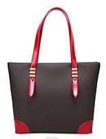 cheap -Women's Bags PU(Polyurethane) Shoulder Bag Zipper Black / Red / Brown