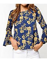 economico -T-shirt Per donna Essenziale Collage / Con stampe, A strisce / Fantasia floreale