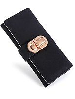 cheap -Women's Bags PU(Polyurethane) Wallet Buttons Black / Gray