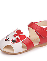 cheap -Girls' Shoes PU(Polyurethane) Summer Comfort Sandals Walking Shoes Animal Print / Magic Tape for Toddler Red / Pink