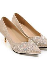 abordables -Mujer Zapatos PU Verano Confort Tacones Tacón Stiletto Dedo Puntiagudo Dorado / Plata / Fiesta y Noche
