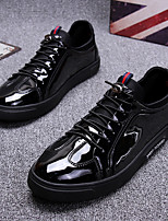 cheap -Men's Patent Leather Spring Comfort Sneakers Black