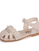 cheap -Girls' Shoes PU(Polyurethane) Spring & Summer Comfort Sandals Imitation Pearl / Magic Tape for Beige / Gray / Pink