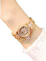 cheap -Women's Dress Watch Chinese Creative Stainless Steel Band Fashion Gold