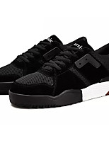 cheap -Men's Suede Summer Comfort Sneakers Color Block Black / Red / Khaki