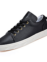 cheap -Men's Shoes Faux Leather / PU(Polyurethane) Fall Comfort Sneakers White / Black / Red