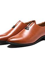 Недорогие -Муж. обувь Наппа Leather / Кожа Осень Удобная обувь / Формальная обувь Мокасины и Свитер Черный / Коричневый