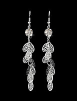 cheap -Women's Drop Earrings - Leaf Tassel, Elegant Silver For Wedding / Evening Party